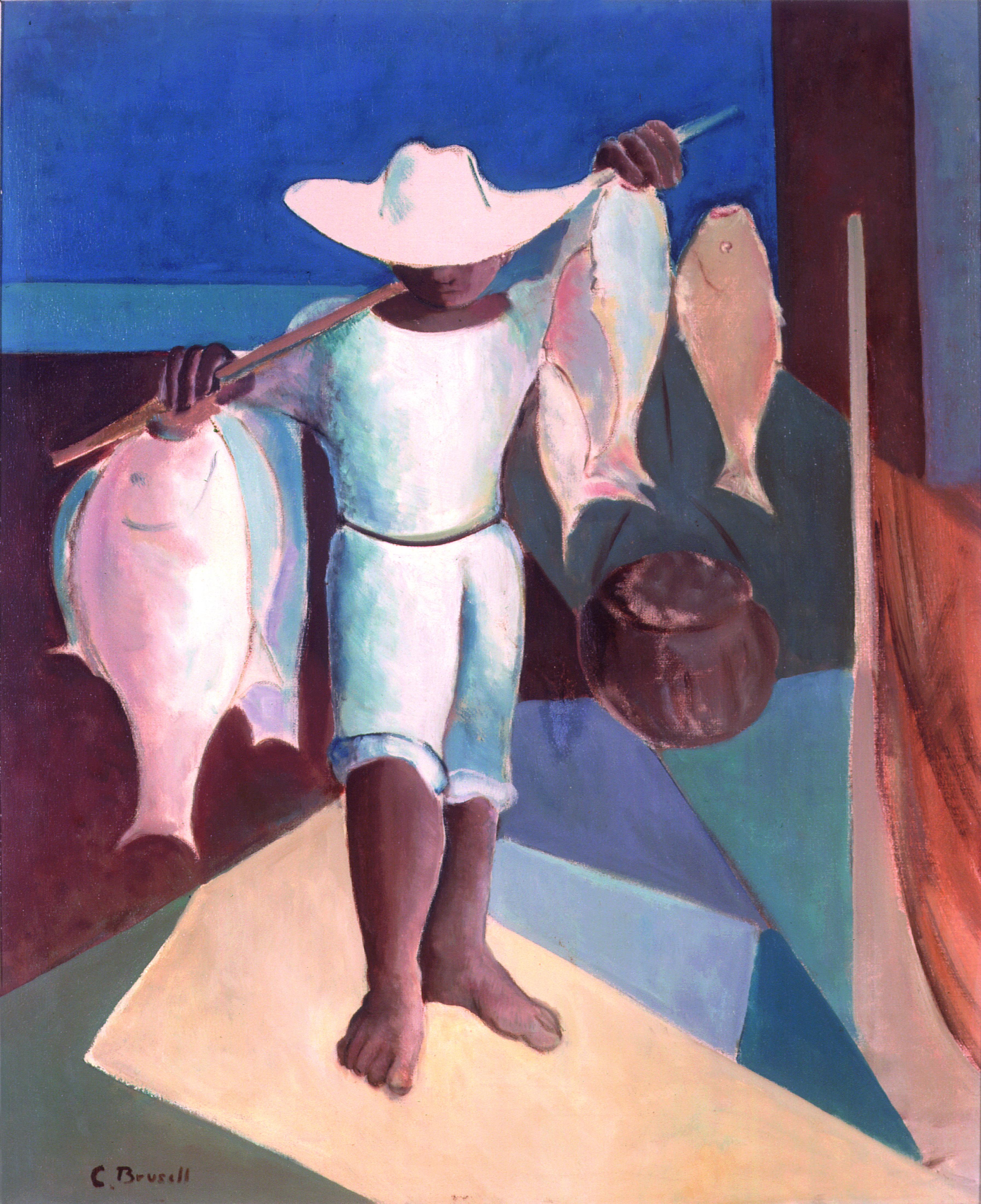 Bahia – ANO: 1979 – TÉCNICA: óleo sobre tela – DIMENSÕES: 0,74cm x 0,60cm Autor: C. Brusell Ano: 1979 Técnica: óleo sobre tela Dimensão: 74 cm x 60 cm