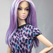 Poppy Parker Mood Changers Purple Lavendar head restyled hair by veronicahage