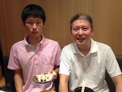 20150726 Sushi with Makino