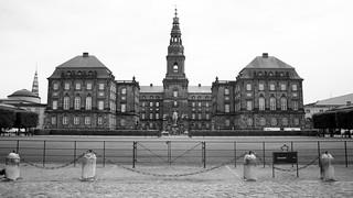 Image of Christiansborg Palace near Copenhagen. copenhagen