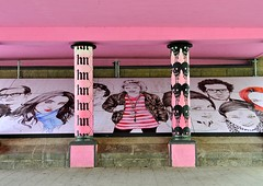 'Muurschildering' Oostzeedijk Beneden Rotterdam