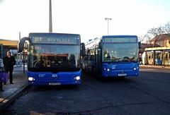 ZET 321 (ZG 4795 DV) and 697 (ZG 8243 DZ) on routes 127 and 128 at Črnomerec - 29th December 2016