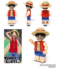LEGO Monkey D. Luffy Custom Minifigure by HOBBYBRICK