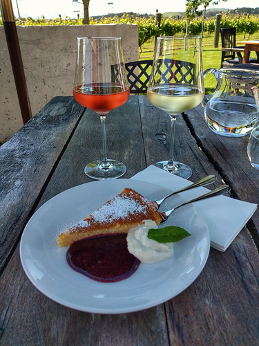 ricotta cake and wines @ Poppies