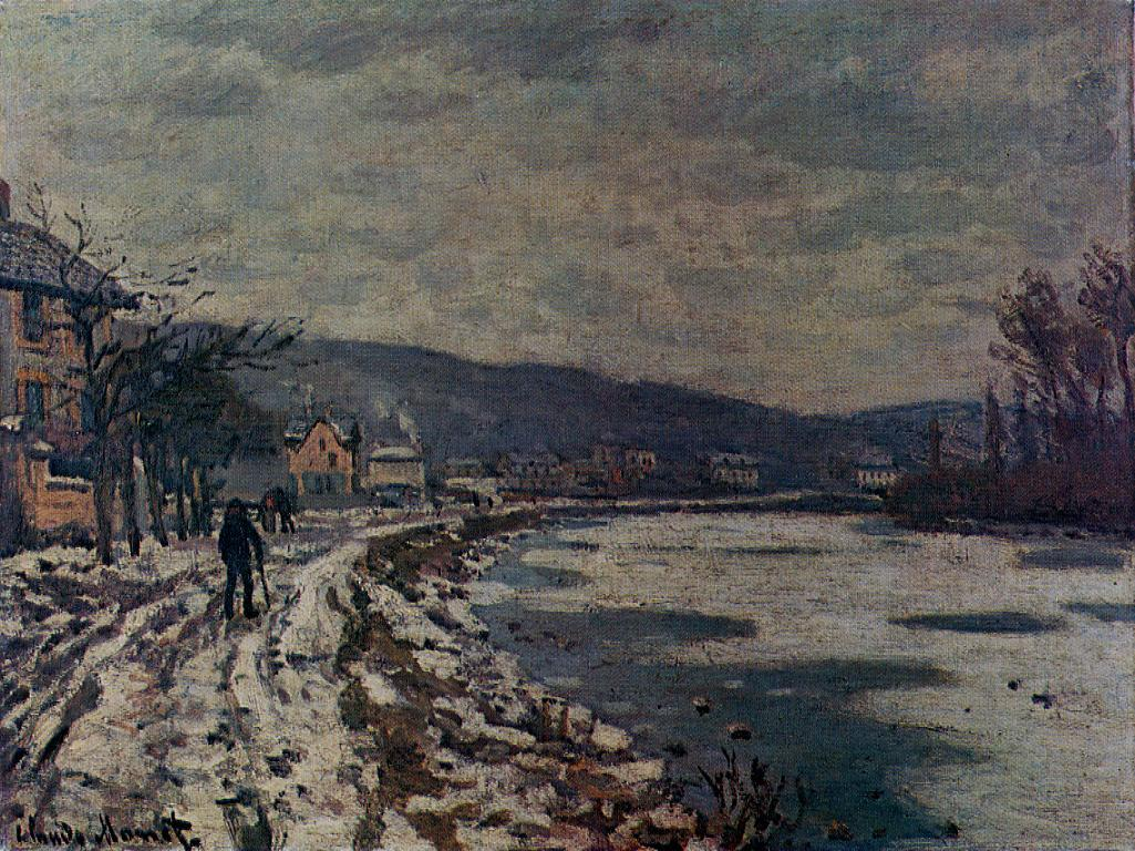 The Seine at Bougival by Claude Oscar Monet - 1869