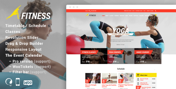 Gym & Fit v9.0 - Theme for Fitness Gym and Fitness Centers