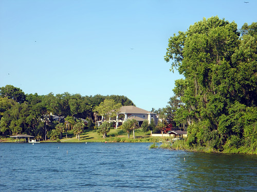 landscape lake water house trees stleo florida