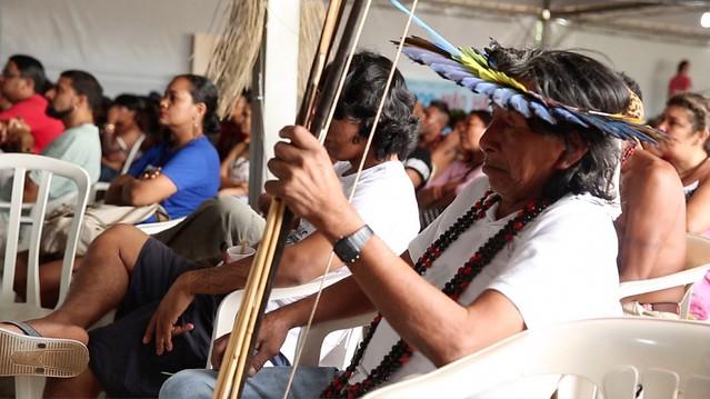 Terceira edição do Festival Juruena Vivo, em Juara (MT). Sete povos indígenas e outros grupos representados - Créditos: Thaís Borges