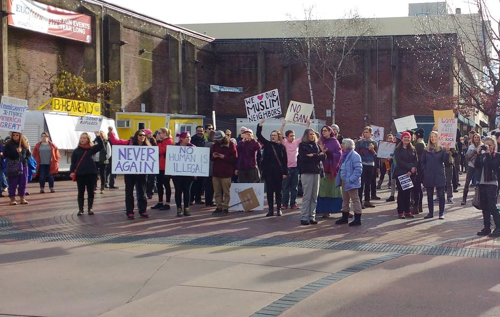 Travel Ban Protest 1 29 17 Eugene, Oregon | amelia gydé | Flickr