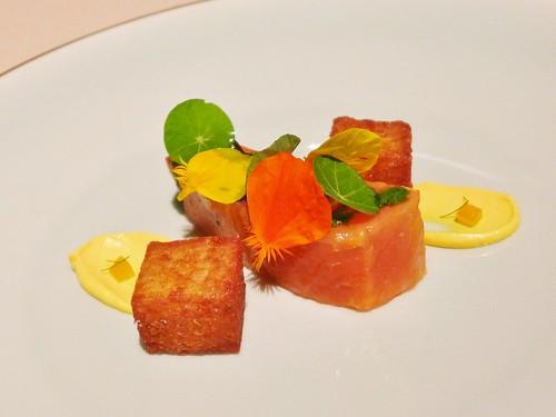 Manresa cured salmon
