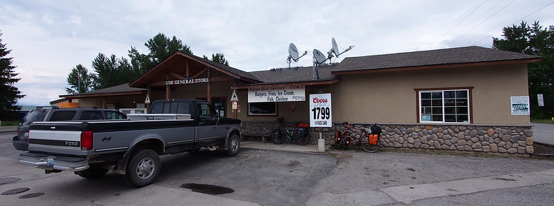 Usk General Store: Kyle and I ended up getting food and beer to bring back to camp here.