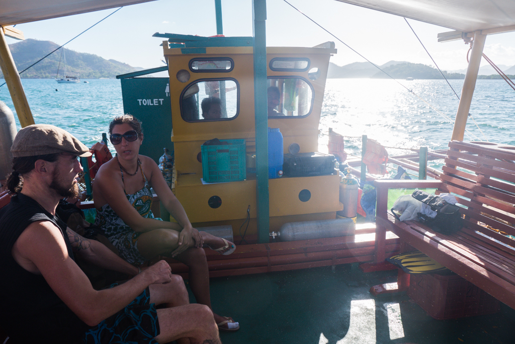 Rocksteady dive boat after long day of wreck diving in Coron, Philippines. The Top 5 Water Activities to do in the Philippines