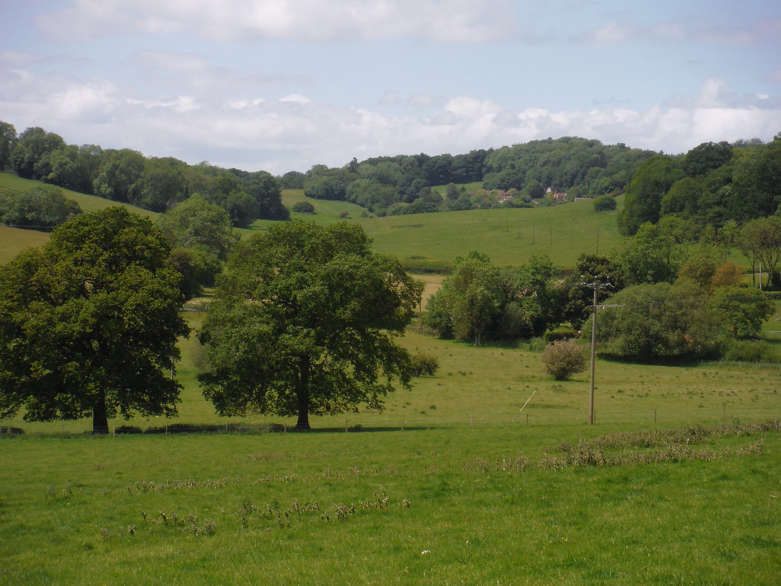 Views back to Ridge hamlet SWC Walk 249 Tisbury Circular via Dinton and Fovant