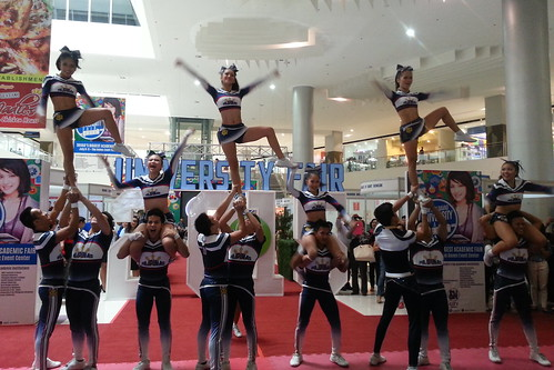 Davao Photos: National University (NU) Pep Squad at SM Davao's University Fair 2015 - DavaoLife.com 20150709_114633
