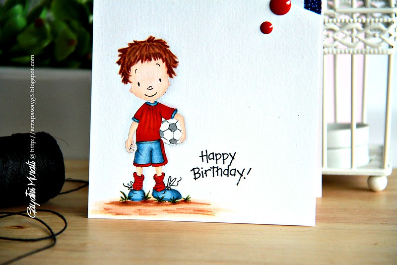 Happy Birthday Boy card closeup1