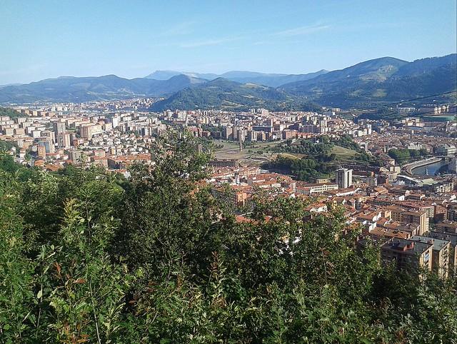 Vista parcial de Bilbao desde el mirador de Artxanda