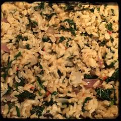 #Homemade #Callaloo #SeasonedRice #CucinaDelloZio