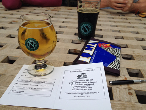 Finish celebration, Ninkasi Brewery, Eugene OR