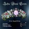 Zahra Floral Crown Pink Opal-White