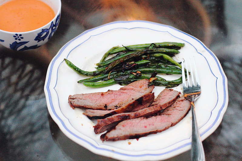 Sunday Dinner: Asian-Inspired Flank Steak and Thai Green Beans