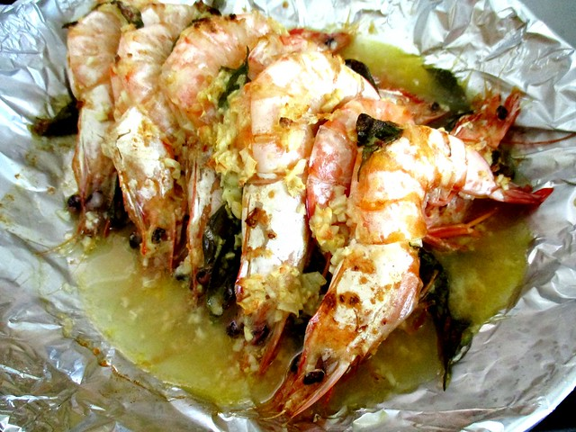 Garlic butter prawns 2