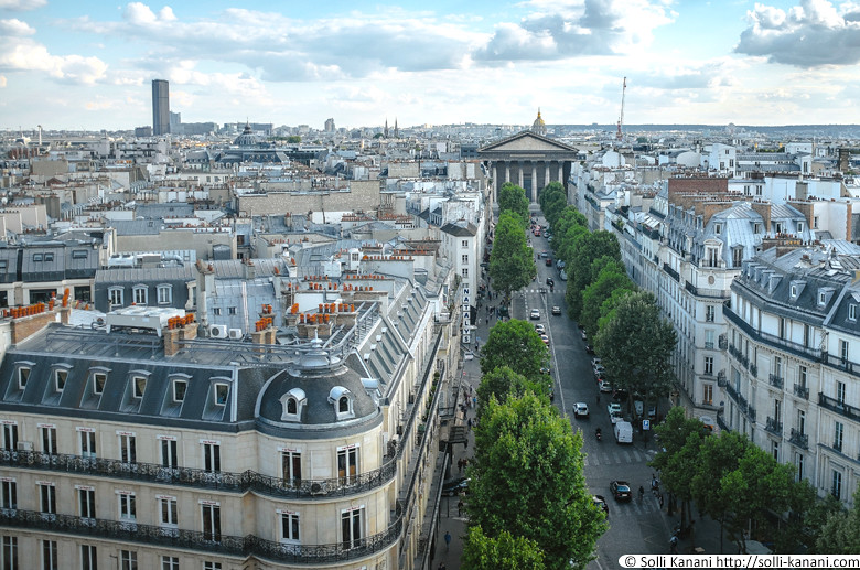 rooftop view over paris. Black Bedroom Furniture Sets. Home Design Ideas