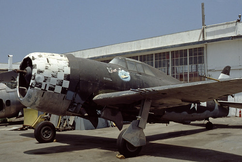 Republic P-47D Thunderbolt at the Planes of Fame Museum, 1980