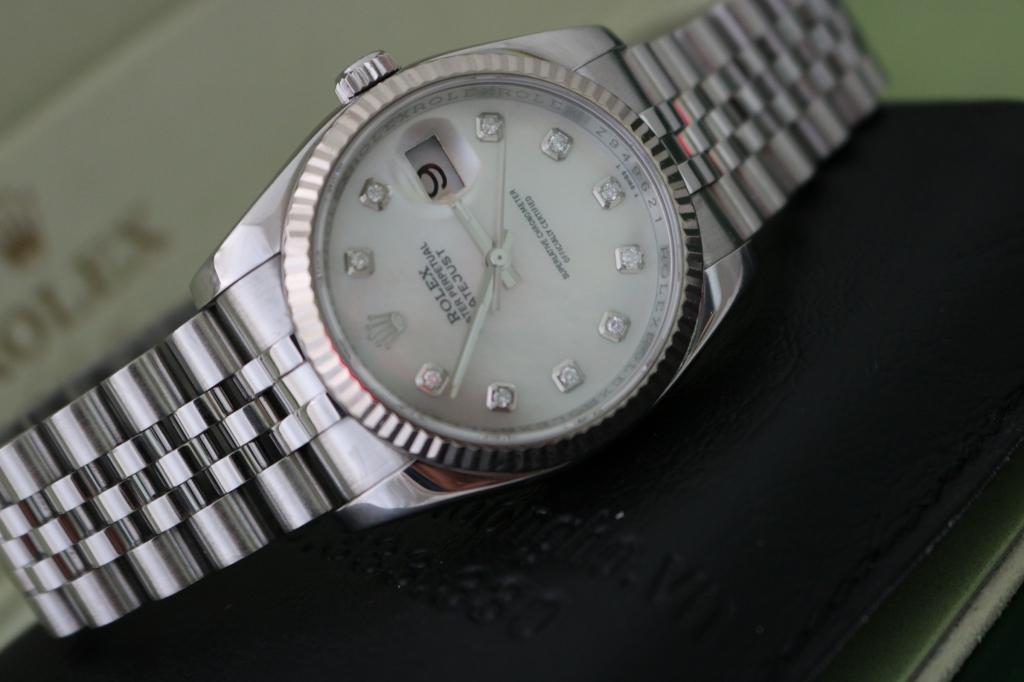 Bán đồng hồ rolex datejust 6 số 116234 – inox – mặt xà cừ xoàn – size 36