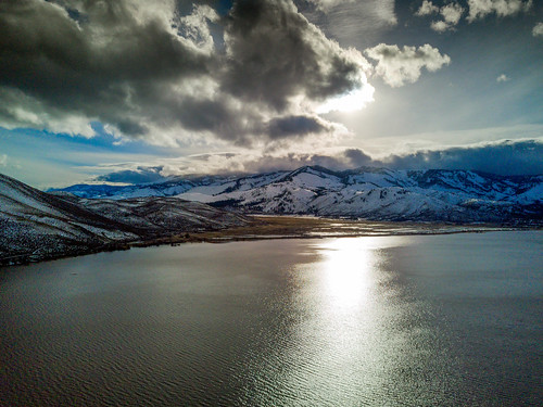 drone djimavicpro aerial mountain greatbasin washoelake nevada