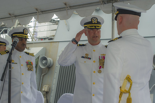 USS Russell Holds Change of Command in San Diego