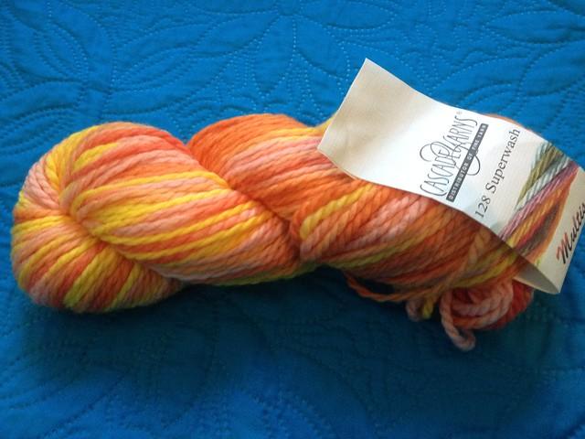 128 Superwash, Multis, by Cascade Yarns. Color 106. 5 skeins