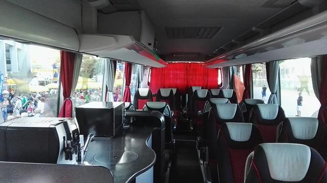 Im Mannschaftsbus