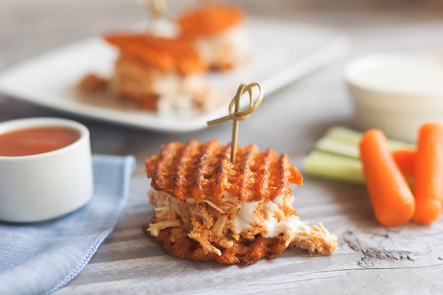 Buffalo Chicken Sweet Potato Sliders