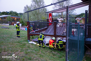 Terrasseneinsturz Lodge Opel Zoo 01.08.2015