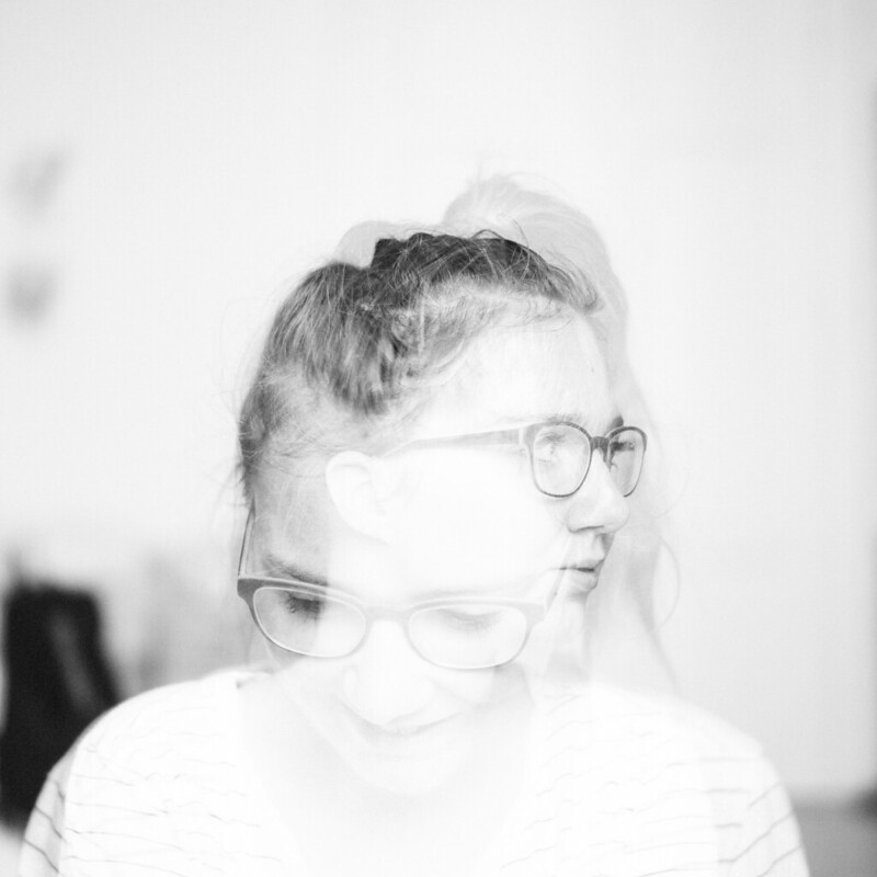 double exposure autoportrait