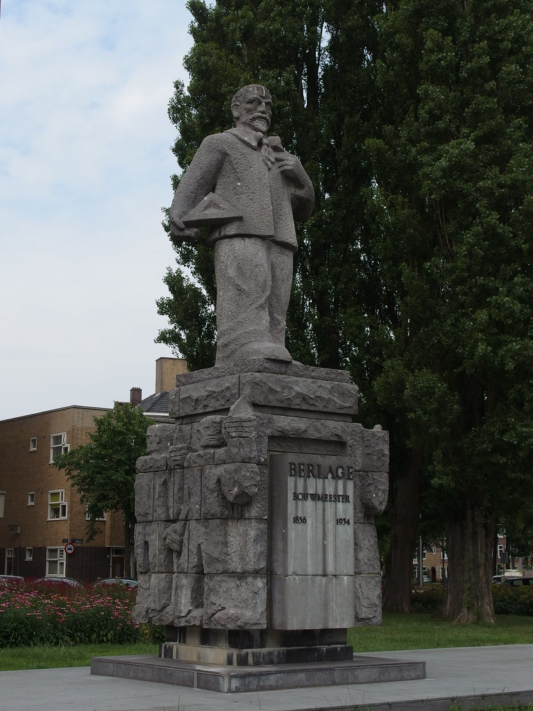 Hendrik Petrus Berlage Statue At Amsterdam Guilhem Vellut
