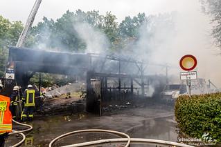 Lagerhallenbrand Rüdesheim 04.08.15