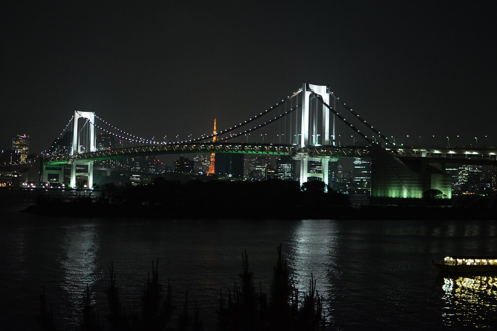 Rainbow Bridge Odaiba by night