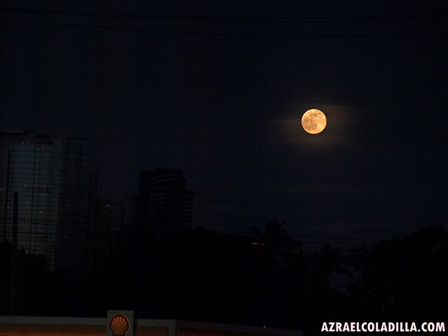 Blue moon of July 31, 2015 - Manila, Philippines