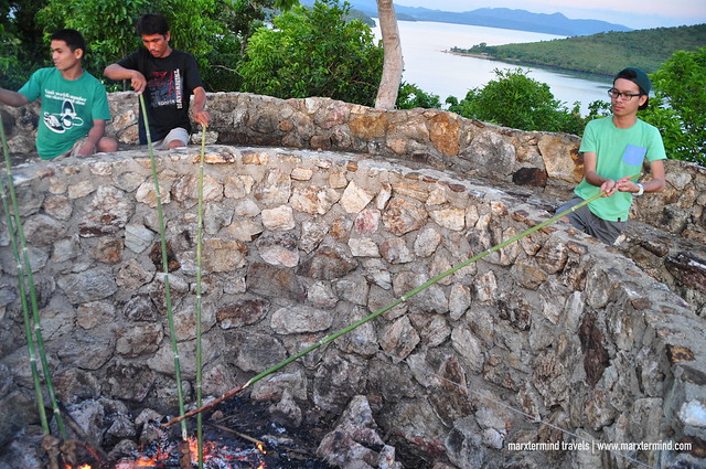 Grilling Barbecue at Bonfire La Estancia Busuanga