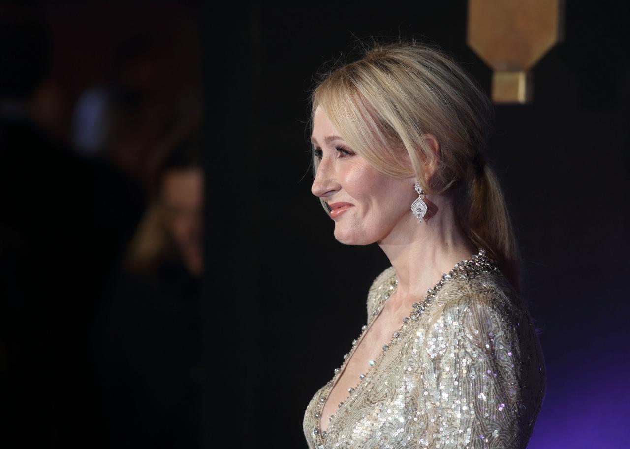 作家羅琳性格敢言,又樂於行善,是作者眼中是位可令人心悅誠服的富豪。(Getty Images)