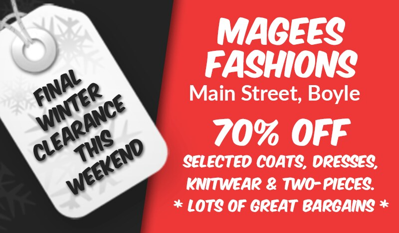 Magees Fashions Winter Clearance