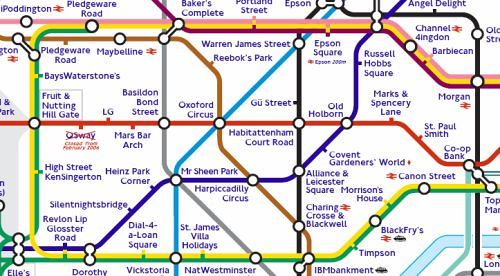 """Sponsored"" London Underground Tube Map"
