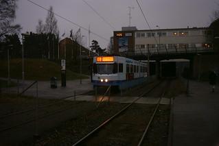 Tram in Kortedala, Sweden