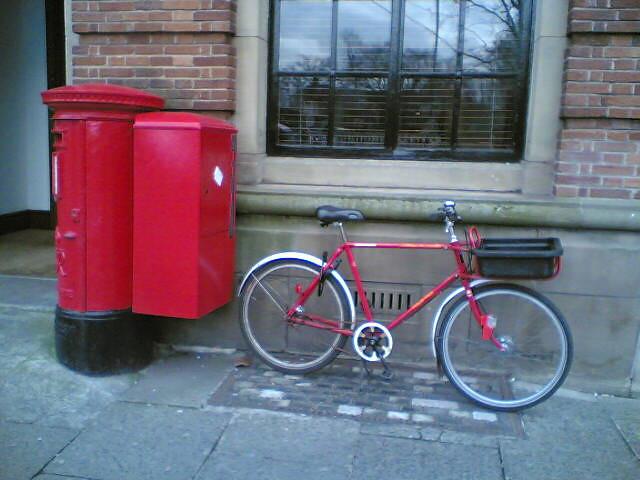 Red post box ~ Red post bike