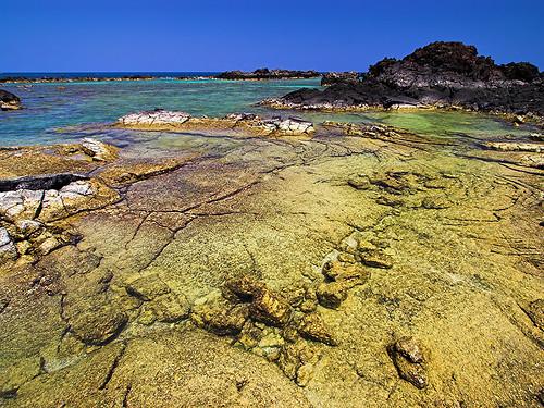 ocean water hawaii lava bigisland shallow polarizer ponds tidal 23176 kukio