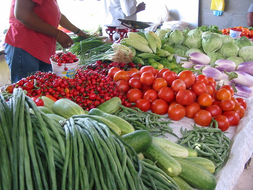 Vegetables at Mon Repos market