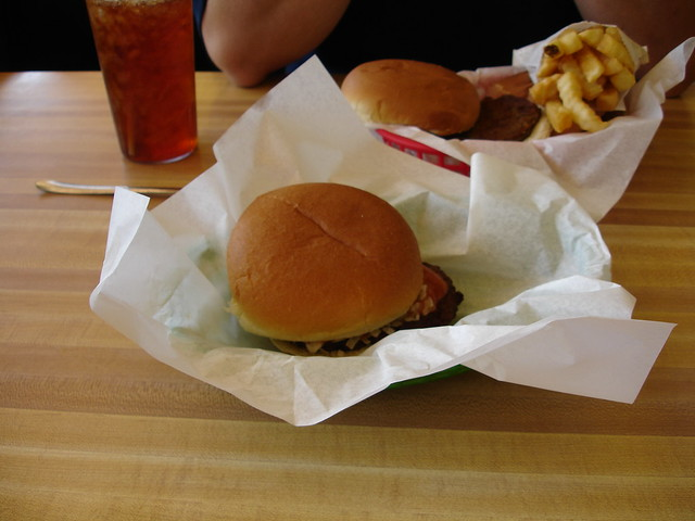 Hamburger from the Busy Bee Cafe, Cullman AL