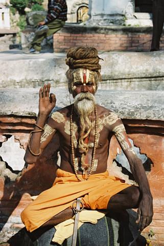 Sadhu in Nepal by Yadupati