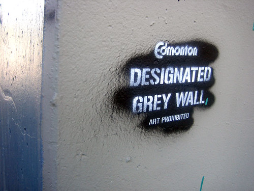 Edmonton - Designated Grey Wall - Art Prohibited